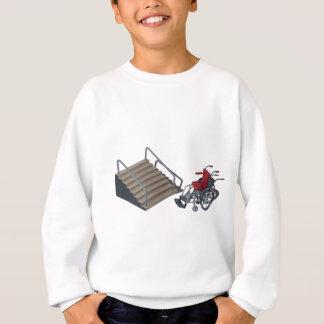 WheelchairAndStairs080214コピー スウェットシャツ