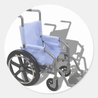 WheelchairBlueSeat073110 ラウンドシール