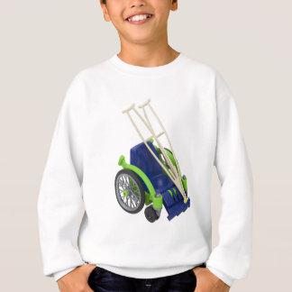 WheelchairCrutches013110 スウェットシャツ