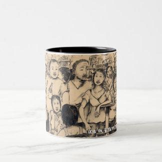 wheresパーティーの鉛筆のコーヒー・マグ ツートーンマグカップ