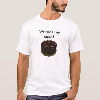 Wheres私のケーキか。 Tシャツ