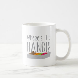 Wheres HANGIか。 (ニュージーランドのマオリの饗宴) コーヒーマグカップ