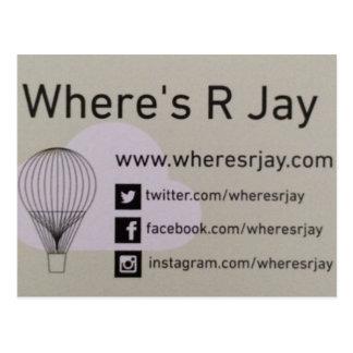 Wheres Rジェイのロゴ ポストカード
