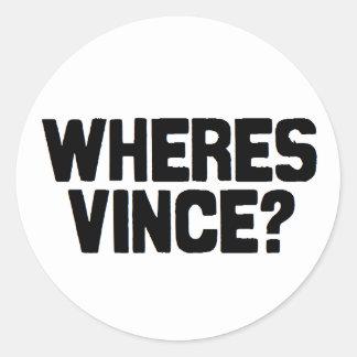 Wheres Vinceのステッカー ラウンドシール