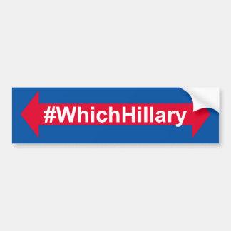 #WhichHillary バンパーステッカー