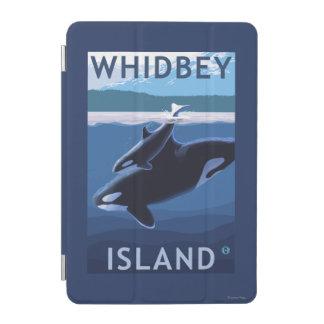Whidbeyの島、WashingtonOrcaおよび子牛 iPad Miniカバー