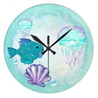 Whimseyのアクアリウム2の民芸 ラージ壁時計