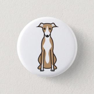 Whippet犬の漫画 3.2cm 丸型バッジ