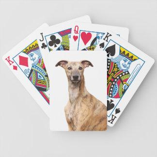 Whippet犬の美しい写真のポートレート、ギフト バイスクルトランプ