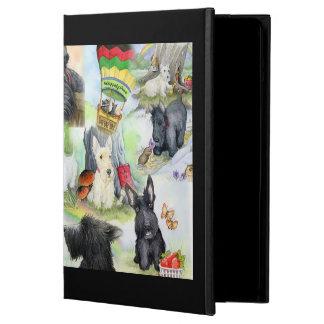 Whippety木のIPadのスコッチテリア iPad Airケース