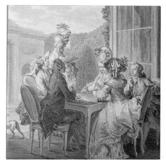Whistのパーティー1783年、ジーンDambrun (1著刻まれて タイル