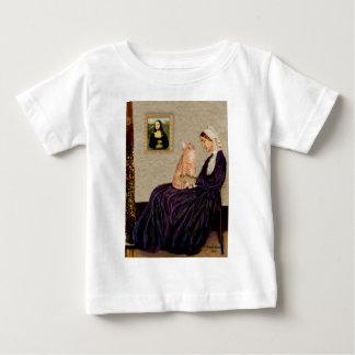 Whisterlsの母-オレンジ虎猫のSH猫46 ベビーTシャツ