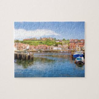 Whitby港の景色の絵画 ジグソーパズル