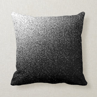 WHITE AND BLACK  NOISE Polyester Throw Pillow クッション