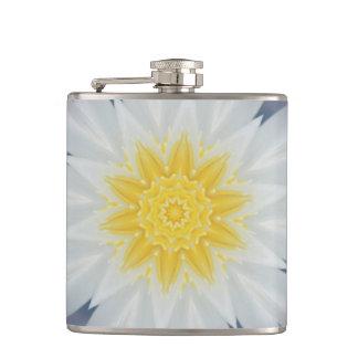 WHITE, BLUE, AND YELLOW STARBURST FLASK フラスク