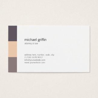 White brown grey minimal simple professional card 名刺