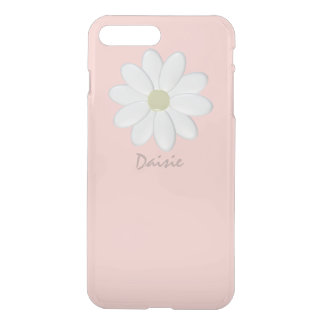 White Daisy Pale Pink iPhone 8 Plus/7 Plus ケース