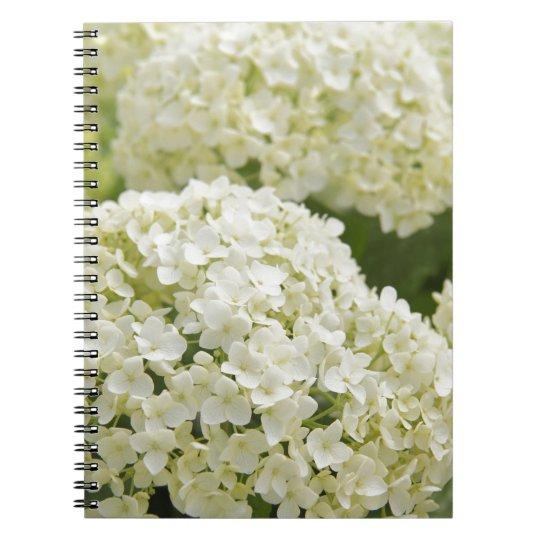 White Hydrangea ノートブック
