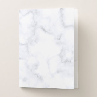 White Marble ポケットフォルダー