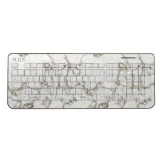 White Marble Wireless Keyboard ワイヤレスキーボード