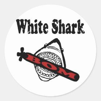 White Shark シール・ステッカー