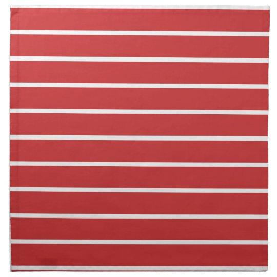 White Stripes on Red ナプキンクロス