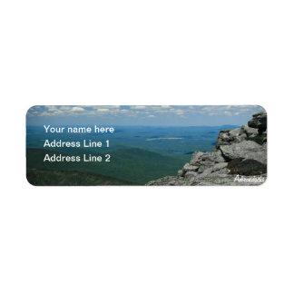 Whiteface山、Adirondacks、NYの上 ラベル