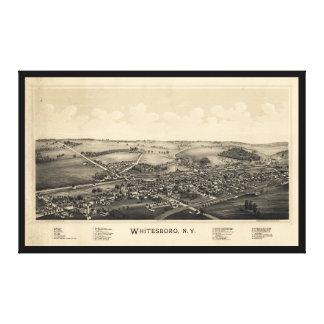 Whitesboro、ニューヨーク(1891年)の鳥瞰的な眺め キャンバスプリント
