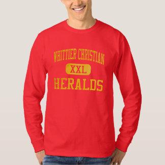 Whittierのクリスチャンは運動競技を予告します Tシャツ