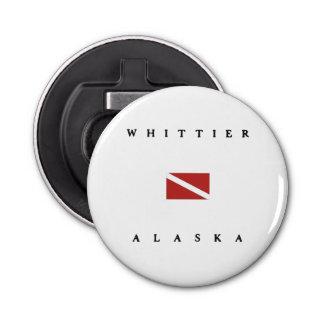 Whittierアラスカのスキューバ飛び込みの旗 栓抜き