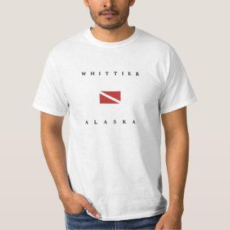 Whittierアラスカのスキューバ飛び込みの旗 Tシャツ