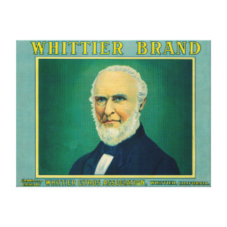 WhittierレモンLabelWhittier、カリフォルニア キャンバスプリント