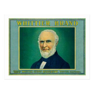 WhittierレモンLabelWhittier、カリフォルニア ポストカード