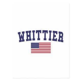 Whittier米国の旗 ポストカード