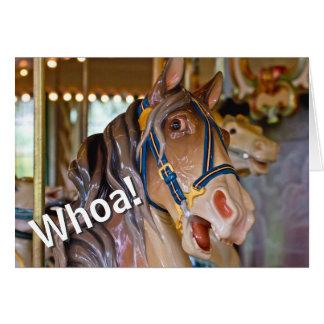Whoa! 70回転木馬の馬のハッピーバースデーはだれであるか見て下さい グリーティングカード