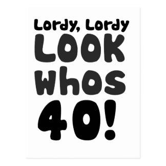 whosを40歳見て下さい ポストカード