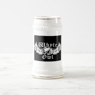 Whyteのフクロウのロゴのマグ ビールジョッキ