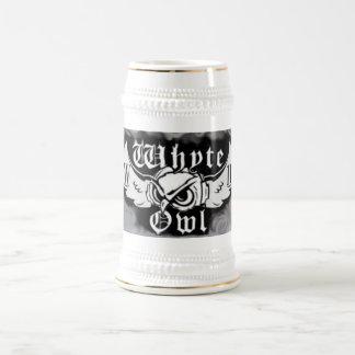 Whyteのフクロウの煙のロゴのマグ ビールジョッキ