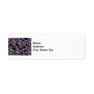 WIの州花の木製バイオレットのモザイク模様 ラベル