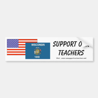 WI--私達の先生を支えて下さい バンパーステッカー