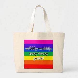 Wibbly不安定でセクシーなwexy虹のプライドのバッグ ラージトートバッグ
