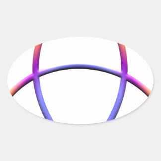 Wiccaの保護 楕円形シール