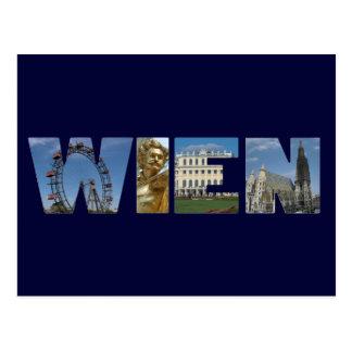 Wienのロゴウィーンオーストリア ポストカード
