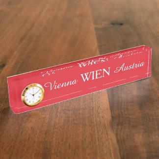 Wien -ウィーンの机のプレート デスクネームプレート