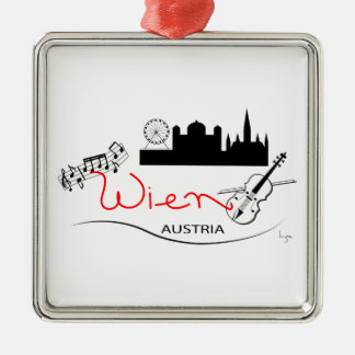 Wien、オーストリア- Österreich メタルオーナメント