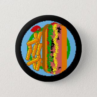 Wienerwurstピクセルプレート 缶バッジ