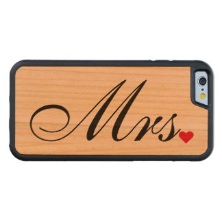 Wife Bride Wedding Couples夫人のiPhone木箱 CarvedチェリーiPhone 6バンパーケース