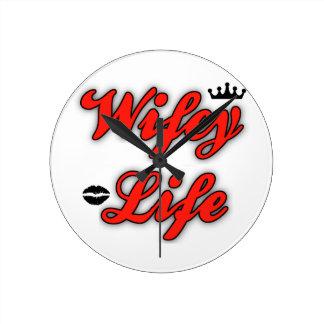 Wifeyの生命時計 ラウンド壁時計