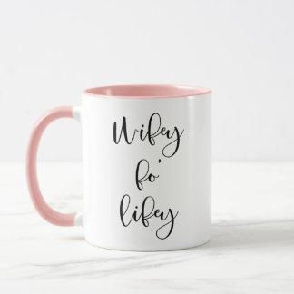 Wifey Fo Lifeyの妻の花嫁のコーヒー・マグ マグカップ