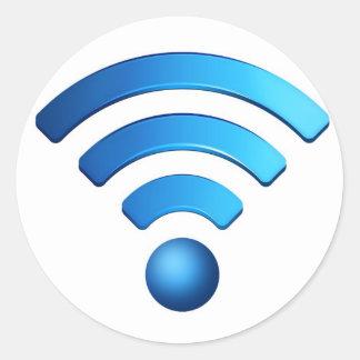 Wifiのステッカー ラウンドシール